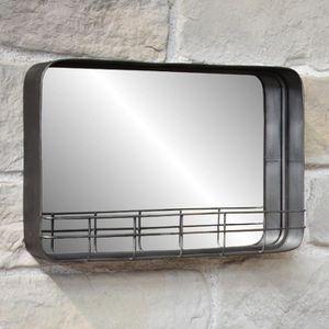 Miroir avec tablette - Achat / Vente pas cher