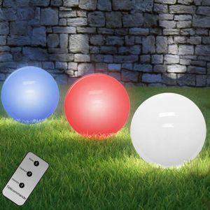 BALISE - BORNE SOLAIRE  Lampe LED boule solaire changement de couleur avec