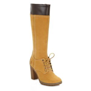 BOTTE Timberland femme Wheat Glancy Tall Lace with Zip B