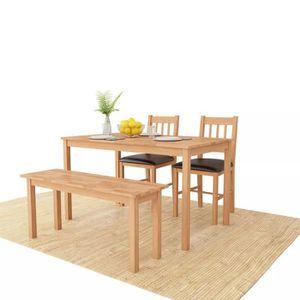 Table a manger en chene massif avec chaise achat vente - Table salle a manger chene massif ...