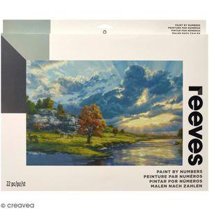 PEINTURE AU NUMÉRO Grande Peinture au numéro Adulte Reeves - Lever de