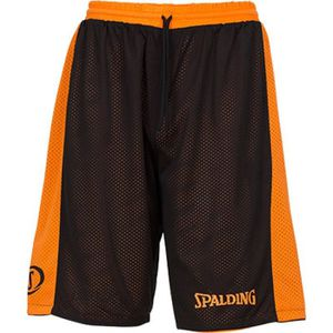 SHORT DE BASKET-BALL SPALDING Essential Short réversible - Orange/Noir