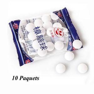 PRODUIT INSECTICIDE 10 Paquets Boules Anti-mites Blanches Boules de Na