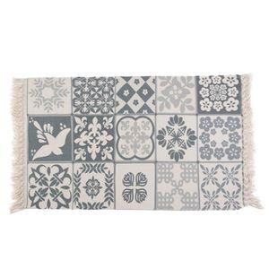 TAPIS tapis carreaux de ciment 60*130cm tapis tissé tapi