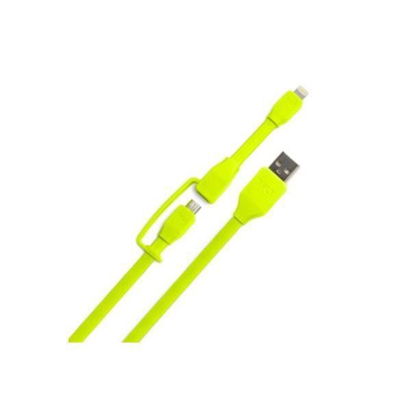 TYLT Câble de chargement double sortie mixte Apple / micro USB 30cm - VertCABLE TELEPHONE