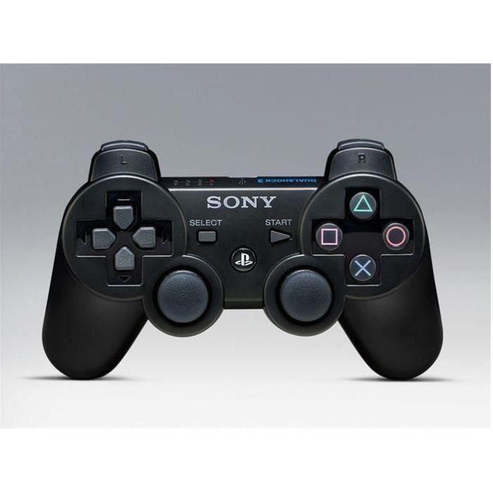 CONSOLE PS3 Sunan Manette de Jeu Dualshock 3 Noire PS3