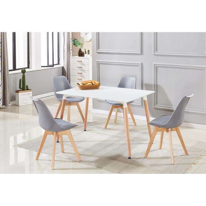 Ensemble À Manger Table De Salle Blanche4 Complet Chaises doCBrxe