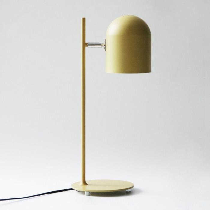 Jaune Simple Fer Reglable Lits De Chevet Lampe De Bureau Salle D