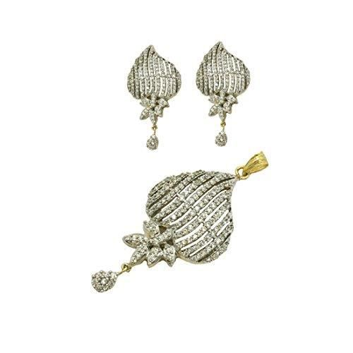 Womens Golden Color Pendant With Earrings ForM6QIM