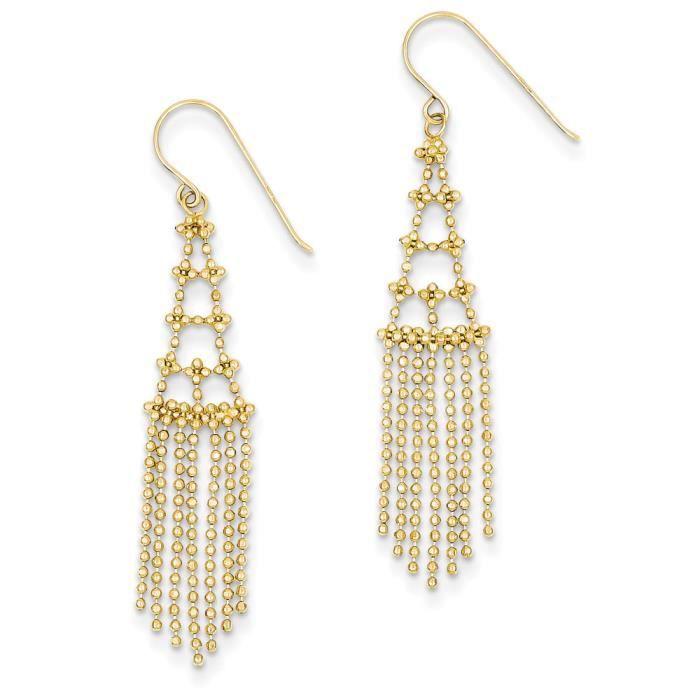 Boucles doreille à perles 14 carats
