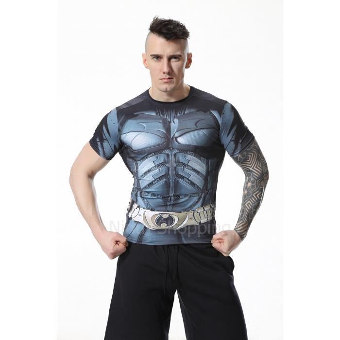 Compression T Homme Collant Shirt Batman Pour S mN0wv8n
