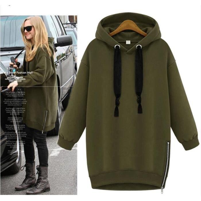 pull robe sweat shirt femme a capuche hoodies femme longue pullover lache velours vague veste. Black Bedroom Furniture Sets. Home Design Ideas