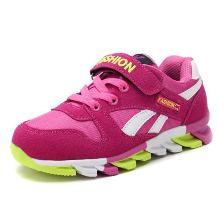 Chaussures pour enfants chaussures de sport confortables champion garçons filles suède loisirs respirant chaussures légères