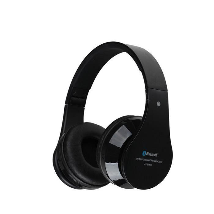 Pliable Bluetooth écouteurs écouteurs Avec Mic At Bt809 Oreillette