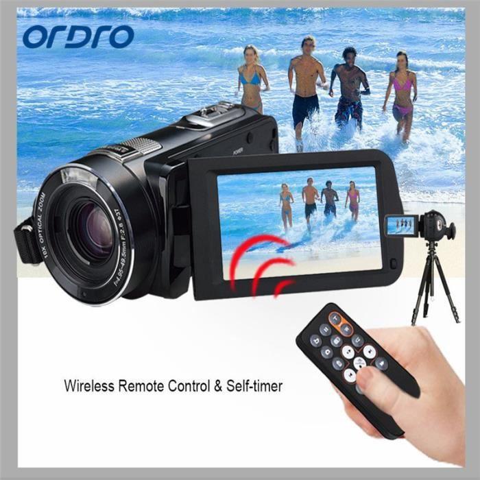 CAMÉSCOPE NUMÉRIQUE ORDRO Caméscope vidéo numérique portable HD Max 24