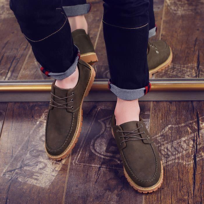 Mocassins pour homme Chaussures de villeChaussures en daim Chaussures à la main Chaussures confortables Chaussures pour l'automne