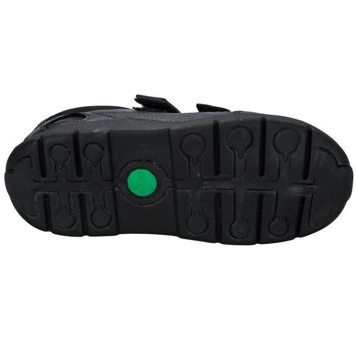 Chaussures en cuir Kickers Moakie Reflex pour Petit Garçon en noir