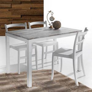 Table A Manger En Bois Blanc Achat Vente Pas Cher