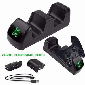 DOCK DE CHARGE MANETTE Chargeur Manette Xbox One, Rapide Dual Station de