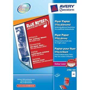 PAPIER IMPRIMANTE Avery Dennison 2790-100 Papier pour flyer Impre…
