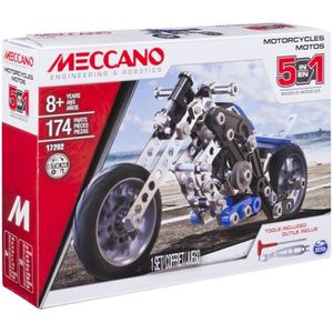 ASSEMBLAGE CONSTRUCTION Spin Master Meccano 5 Model Set Motorcycle, Ensemb