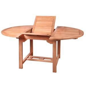 Komodo Table de jardin en teck avec plateau tournant (10 à 12 places ...