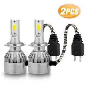 PHARES - OPTIQUES 2pcs H7 Ampoules Phare Lampe Led Auto Kits de Voit