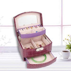 BOITE A BIJOUX Boîte à Bijoux Cosmétique Collier Bague Montres 3