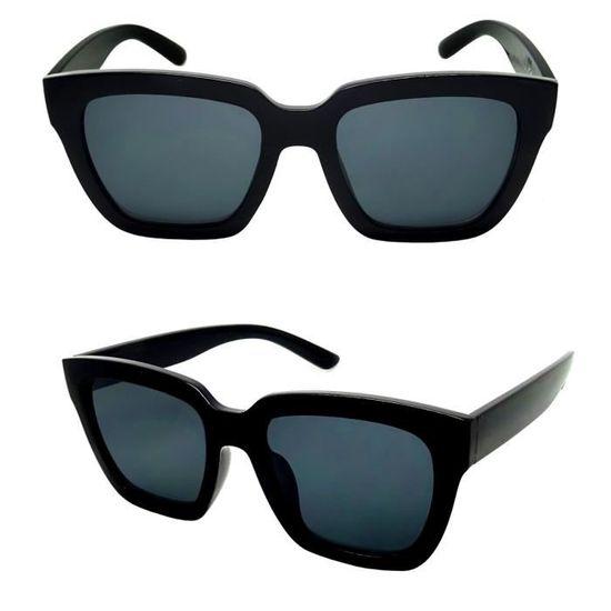 d777cd4ae34023 LUNETTES SOLEIL CARRÉ FEMME HOMME STYLE DISCRET NOIR MASQUE STYLE OVERSIZE  XL - Achat   Vente lunettes de soleil Mixte - Cdiscount