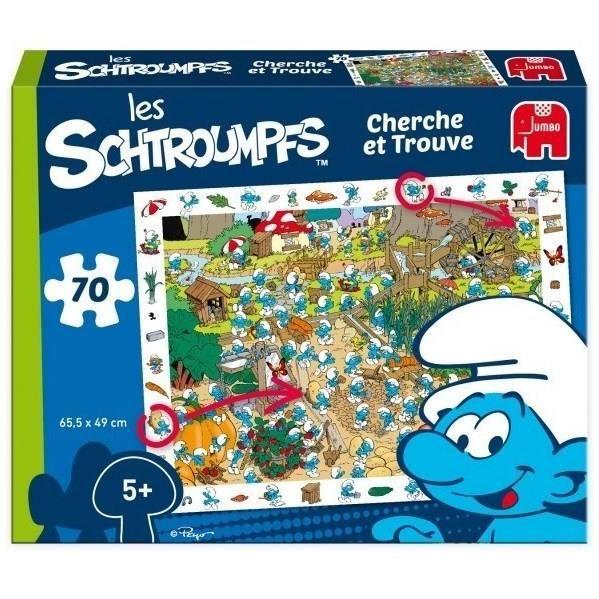 DISET SCHTROUMPFS - Puzzle et Cherche et Trouve 70 Pcs