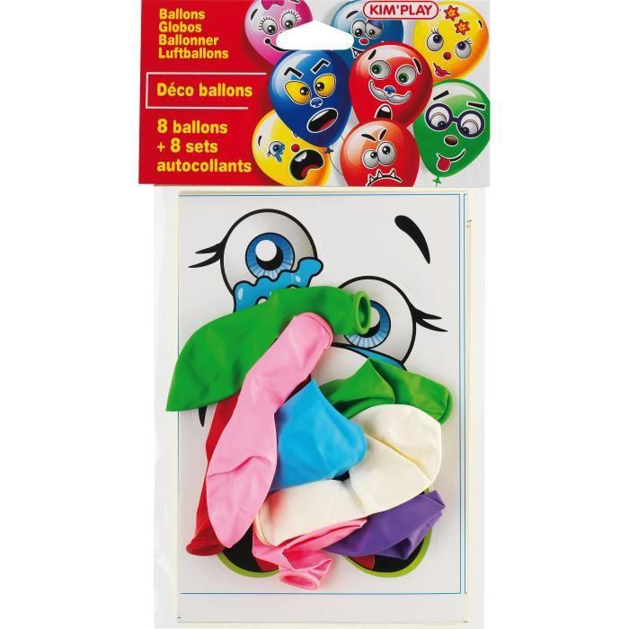 KIM'PLAY 8 Ballons à décorer