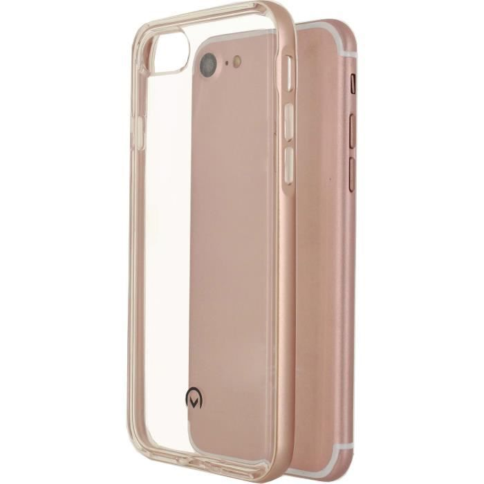 MOBILIZE Coque de protection Gel Silicone+ pour telephone Apple iPhone 7 Rose