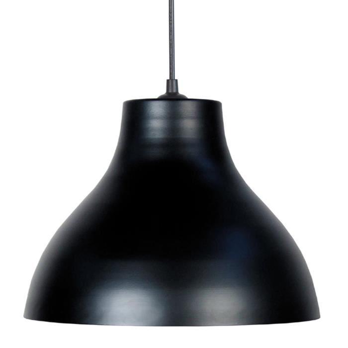 Matière : métal - Type de culot : E27 - Puissance : 25 W équivalent à 100 W - Diamètre : 29,5 cm. Hauteur : 20 cmLUSTRE - SUSPENSION