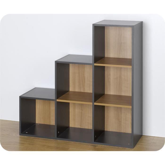 Etagères - 6 cases de rangement Escalier Grises... - Achat / Vente ...