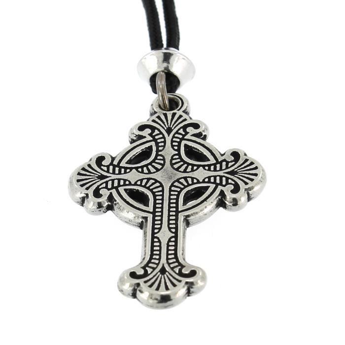 le Celtique Baroque Croix en étain Pendentif - …