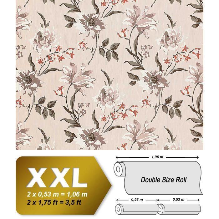 Papier Peint Intisse De Luxe Motif Floral En Relief Edem 900 12