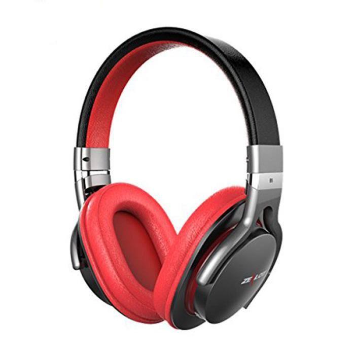 Zealot / Fanatic B5 Casque Sans Fil Bluetooth Carte Stéréo Basse Téléphone Casque-rouge Noir