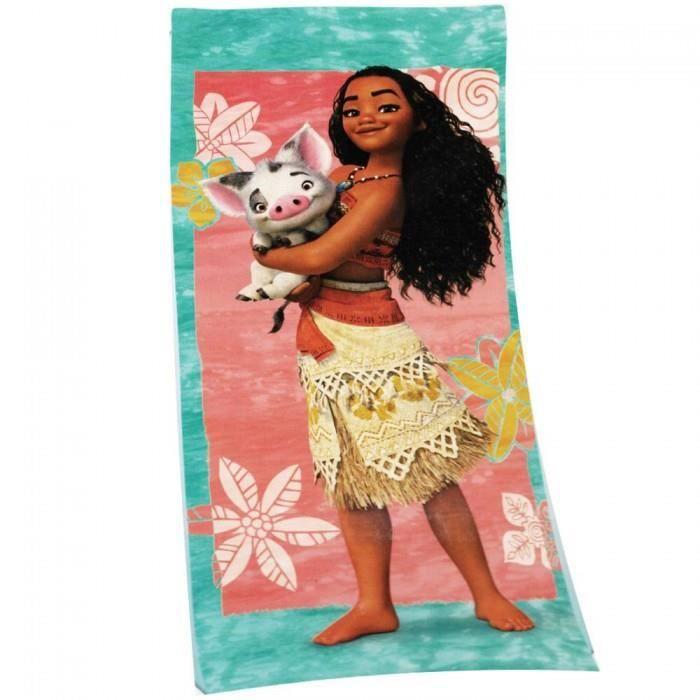 Serviette de plage Vaiana Multicolore - Achat / Vente serviette de ...
