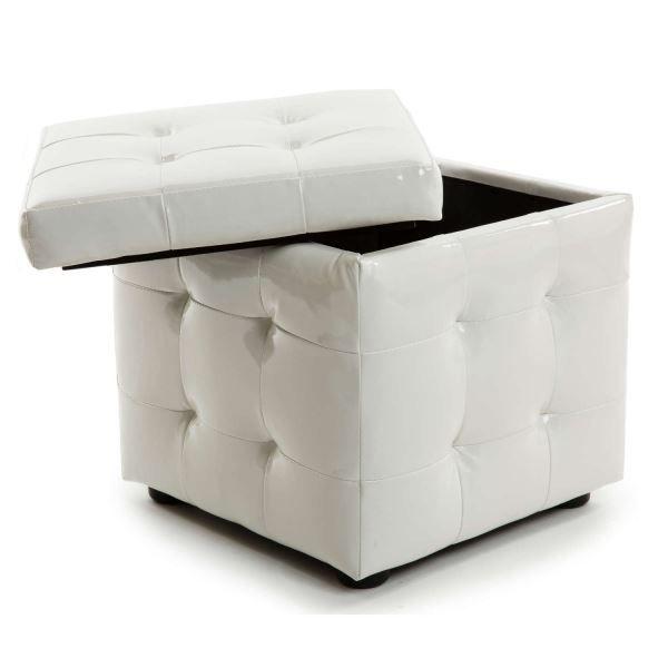 pouf coffre blanc achat vente pouf poire soldes d s le 10 janvier cdiscount. Black Bedroom Furniture Sets. Home Design Ideas