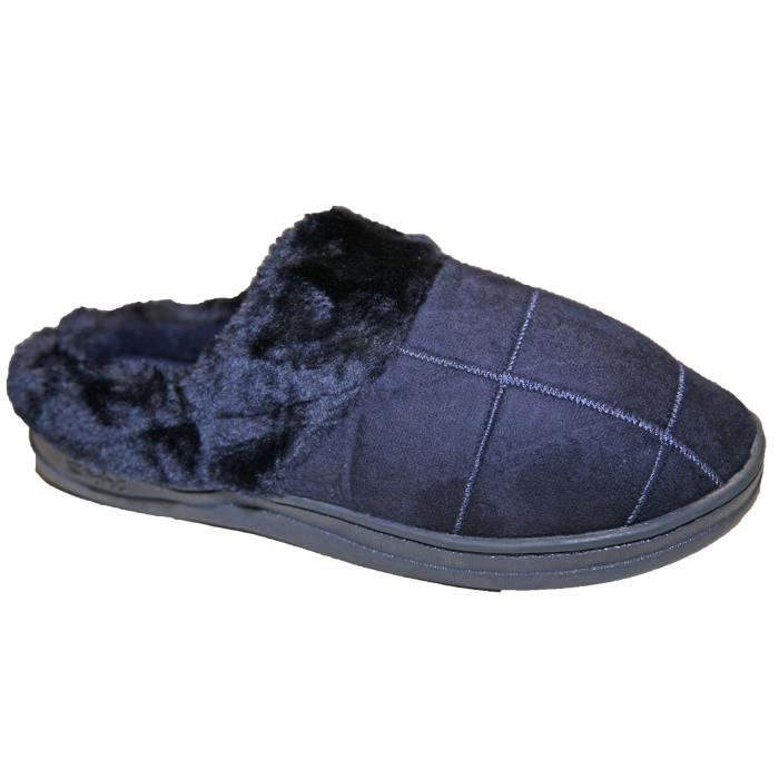 Chaussons Homme Style Charentaise Intérieur Fou... QWD0F