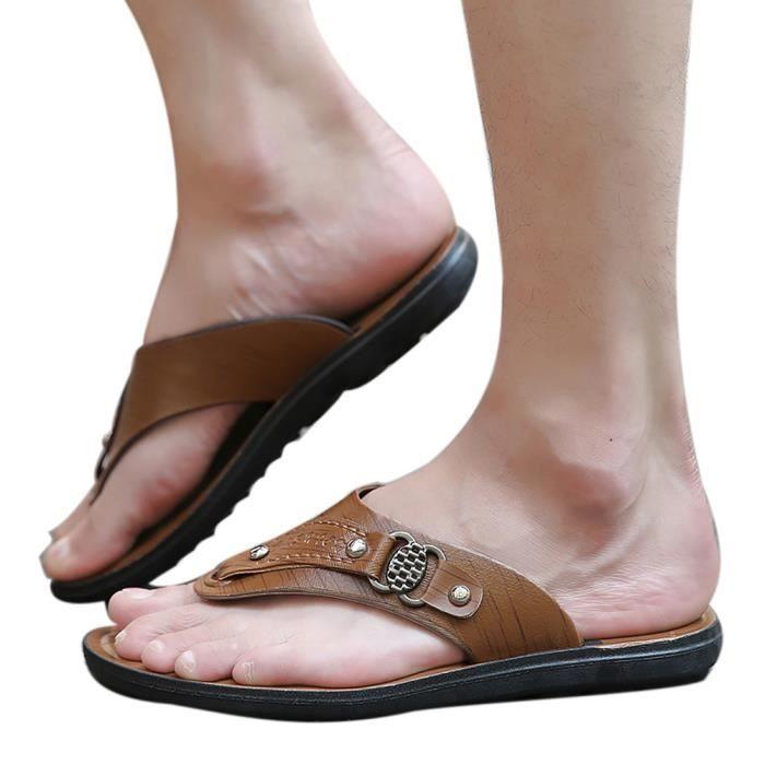 TONG Hommes été plage chaussures pantoufles tongs confo