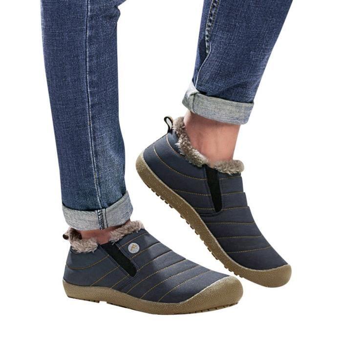 BOTTE Les femmes plus de velours Chaussures de coton imp