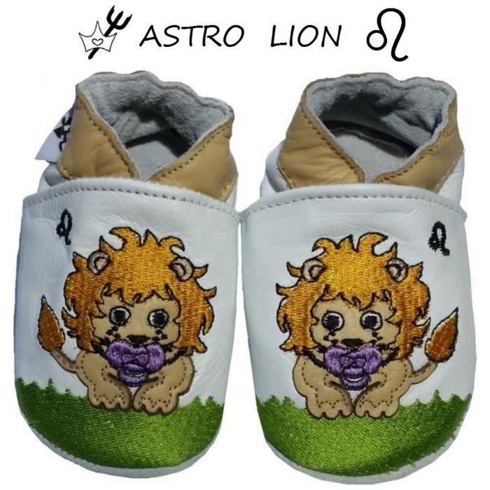 CHAUSSONS CUIR ASTRO BEBE 12-18 MOIS iXQvpNhO8