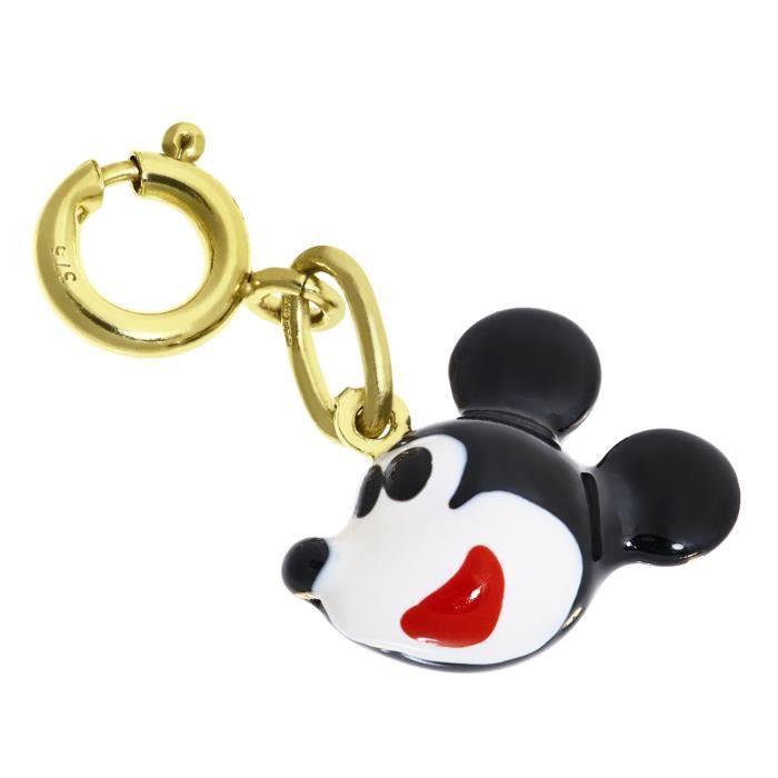 Revoni - Charm-Pendentif émaillé Mickey Mouse + fermoir à ressort 8 mm