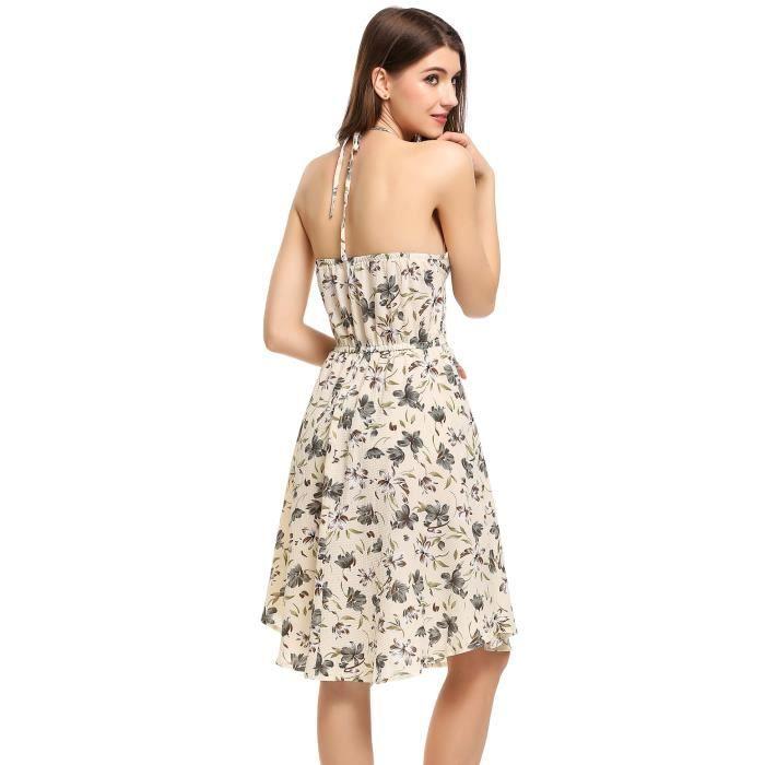 a robe line Halter Femmes Backless S80qaH