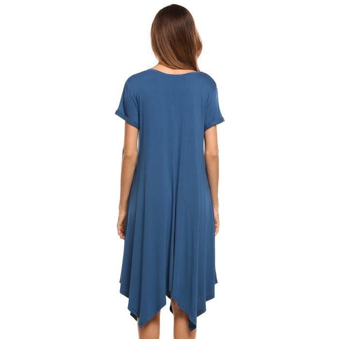 Robe de femmeV-Neck à manches courtes
