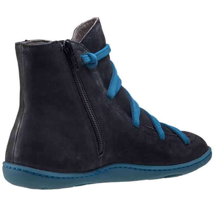 Camper Peu Cami Mid Femmes Bottes Noir Bleu - 38 EU
