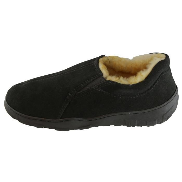 Taille Lined 1 44 Slipper MFKXF Véritable Conway 2 Suede qwztB
