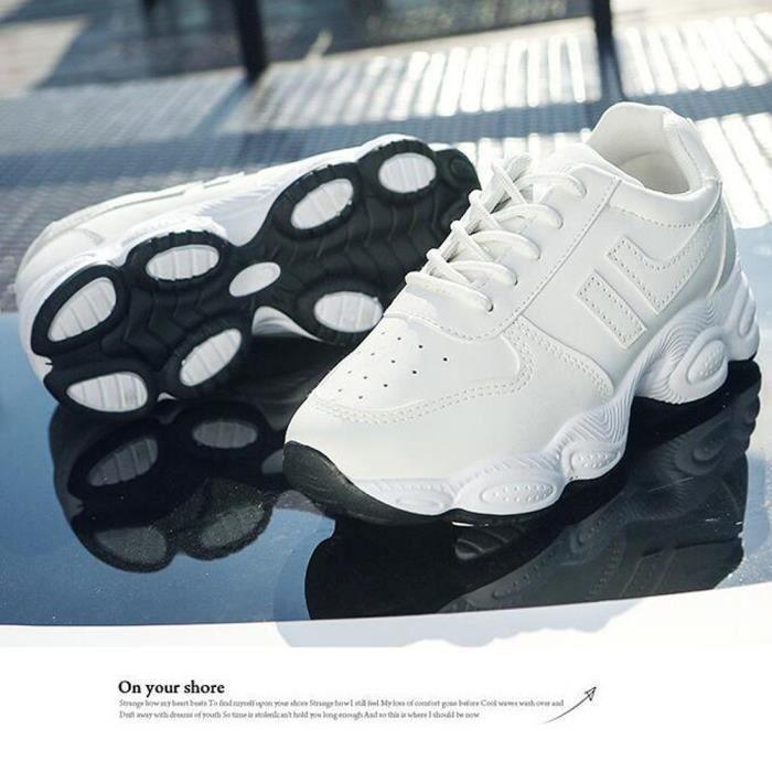 Baskets 2018 Chaussures Sport Femme De Nouveau blanc j53A4RLq