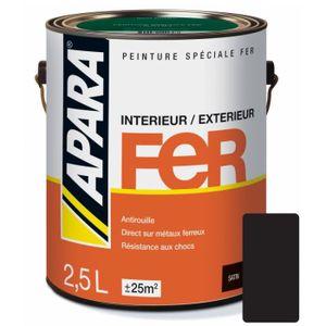 PEINTURE - VERNIS Peinture spéciale FER 2.5 litresNoir profond 2,5 l